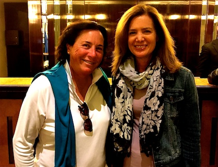 Loved chatting up Hall of Fame golfer Amy Alcott in the King David Hotel's lobby.