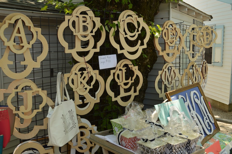 Tthe monogram-crazy Main Line is flipping for these cut-outs at Boutique Street .