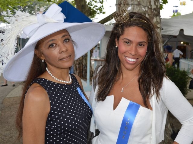 Two of my favorite judges, upper crusty NYC milliner Brenda Waites Bolling, and Chloe Johnston, Parisian shopping tours and style connoisseur.