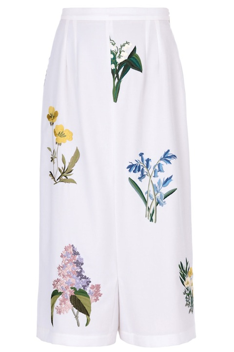 Stella McCartney culottes in a fresh, floral print sell for a cool $1,735 but culottes abound in every price point abound.