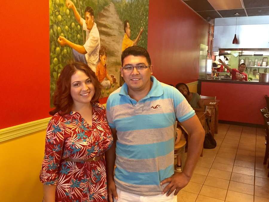 El Limon co-owner Isaias Dominguez and Iris Erazo, manager of his new Bryn Mawr taqueria, the fifth El Limon to open in five years.