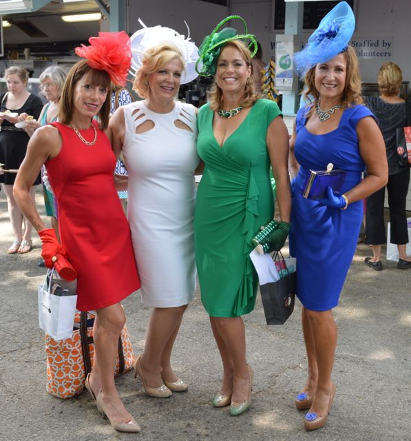 Last year they were a hit as The Four Seasons; this year, they're the Four Gems: Tina Aberant (Ruby), Sharon Bozentka (Diamond), Joanne Bogan (Emerald) and Annette Brennan (Sapphire).