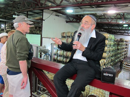The resident rabbi at the Golan Heights Winery leads a fascinating tour not far from the Syrian border (where we saw smoke from a rocket).