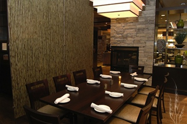 A private dining area at Harvest's Glen Mills location.
