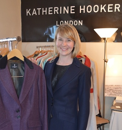 Christina Cain in the line's hacking jacket; Vogue rated it