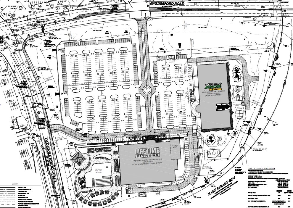 The proposed site plan for Wayne.