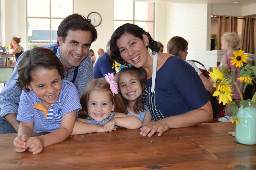 John and Silenia Rhoads and their children, Jay, 4, Lucia,2, and Carolina, 6.