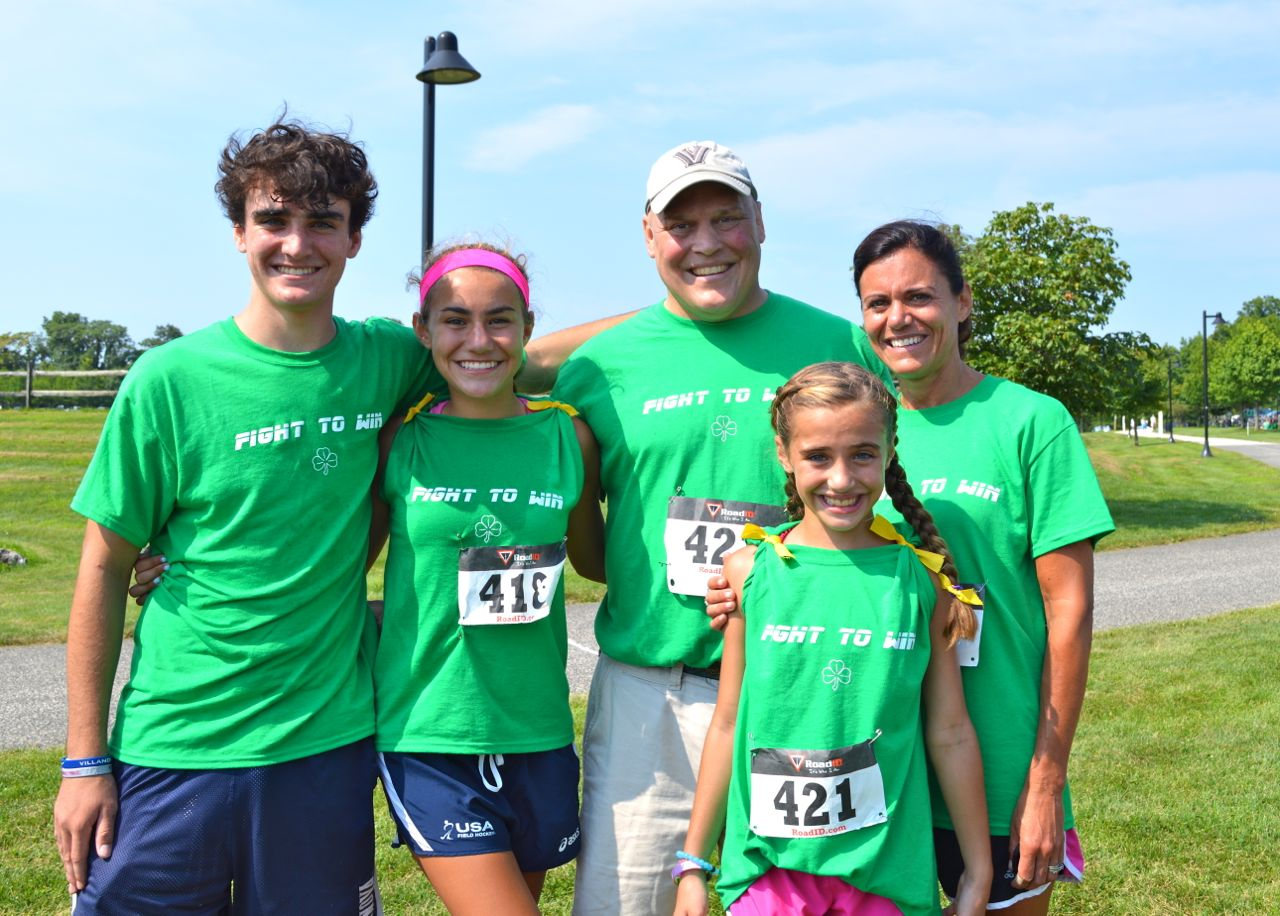 Pat Maher, his wife, Jen, and children PJ, 17, Riley, 15, and Caeli, 10.