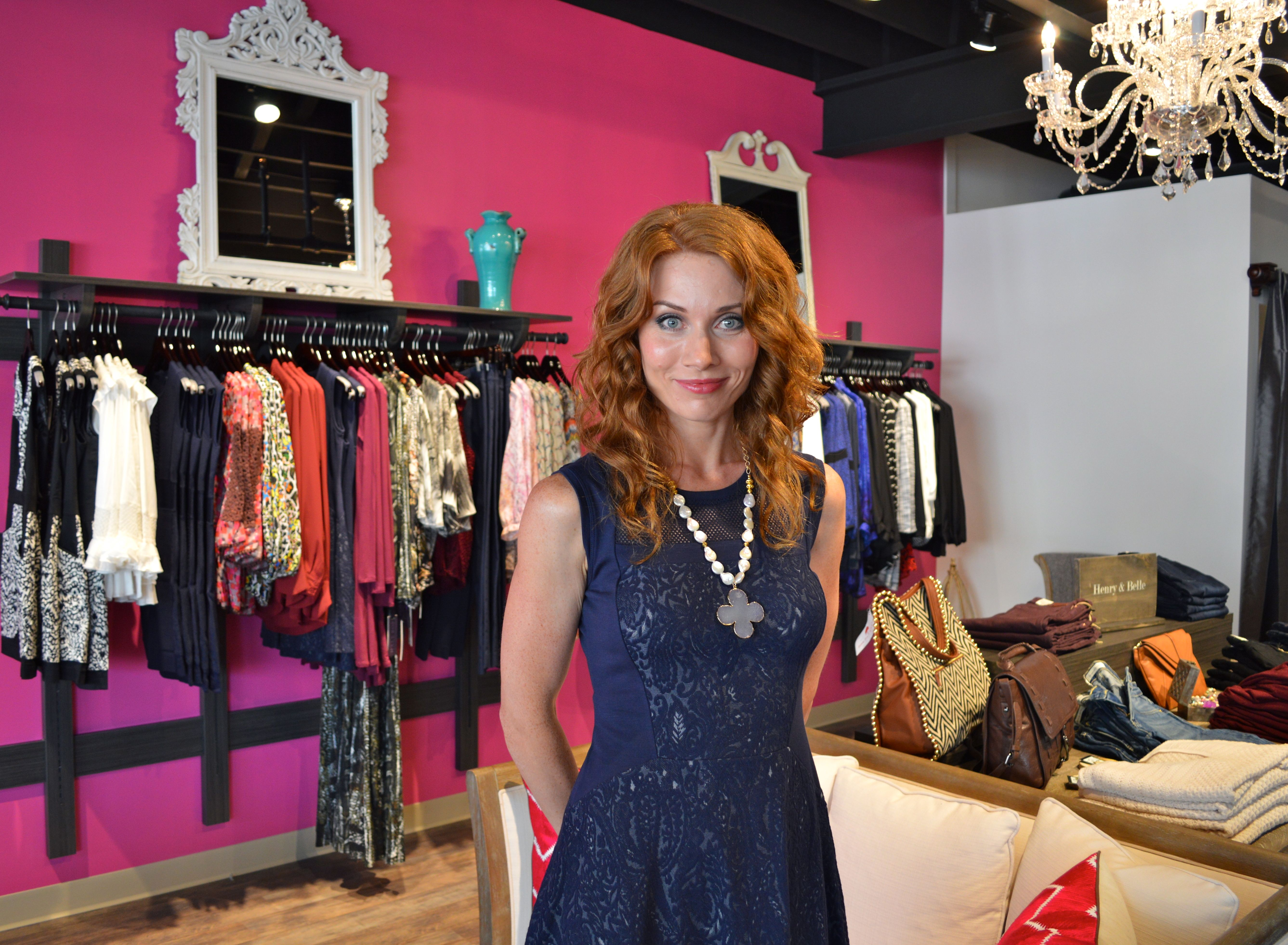 First-time boutique owner Elena Samane says she and her staff will offer friendly, no-pressure style advice and customer service.