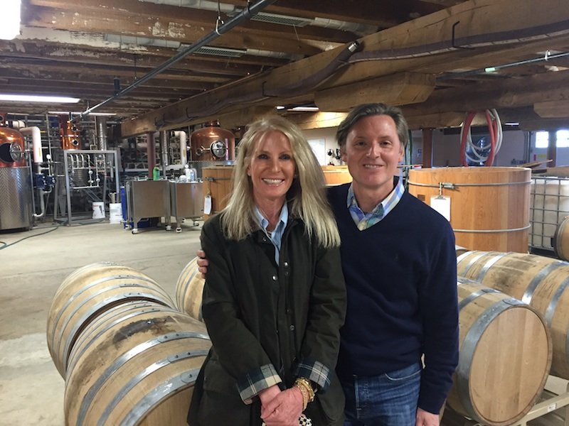 Carolyn and Don Avellino inside their new Chester County gin and bourbon distillery.