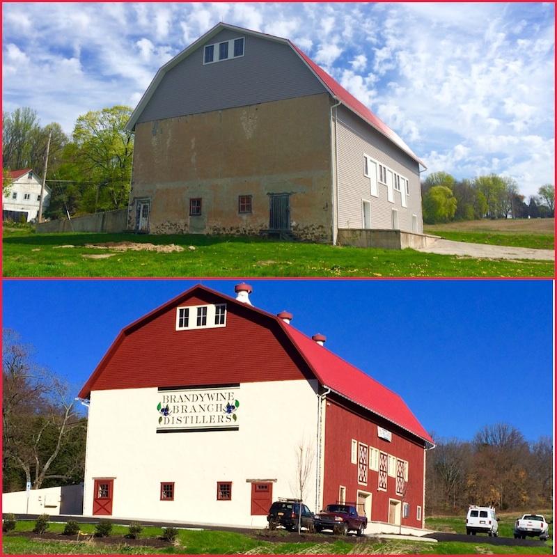 "The ""hippie barn"" and Brandywine Branch Distillery's restoration of the 1899 dairy barn."