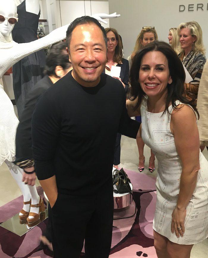SAVVY Street Teamer Nicole Dresnin Schaeffer and designer Derek Lam at Neiman Marcus.