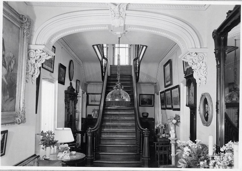 The grand foyer of Loch Aerie in happier days. (CC Historical Society/Library of Congress photo)