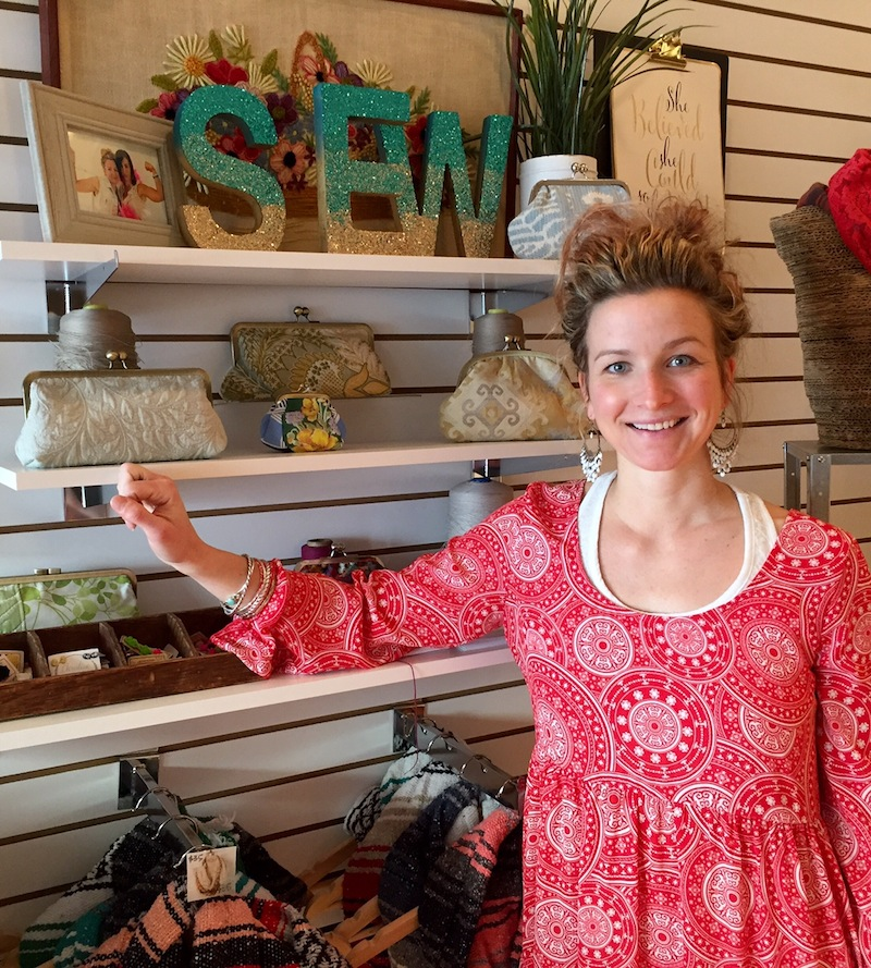 Paige Sullivan in her adorable new shop.
