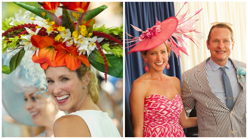 Two of Amy's award-winning Devon hats. (Photos by Brenda Carpenter)