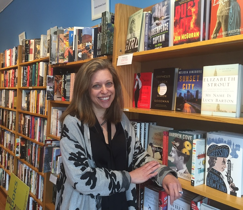 Westward-ho for Main Point Books' owner Cathy Fiebach.