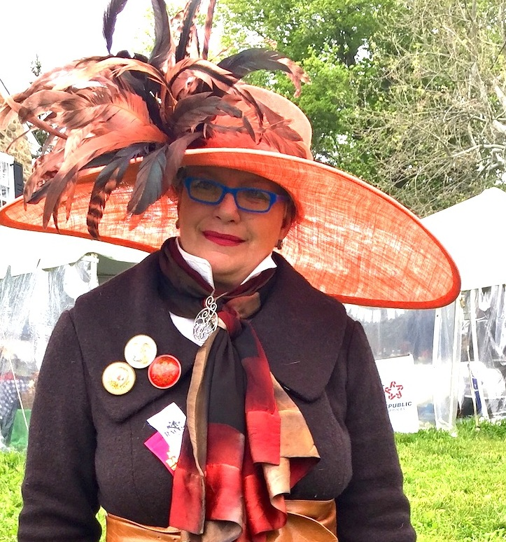 PR gal and Hats by Katie fan Sarah Doheny at the Radnor Races.