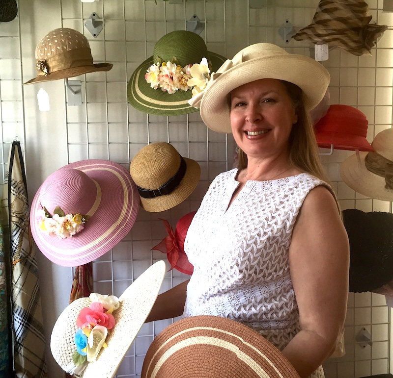 Debbylynn Bradley, proprietor of That's Hats boutique on Route 202 in Chadds Ford.