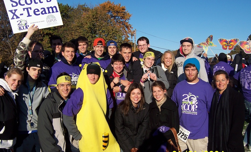 Scott, his family and friends have raised thousands for the Lupus Foundation at the annual Philadelphia Lupus Loop.