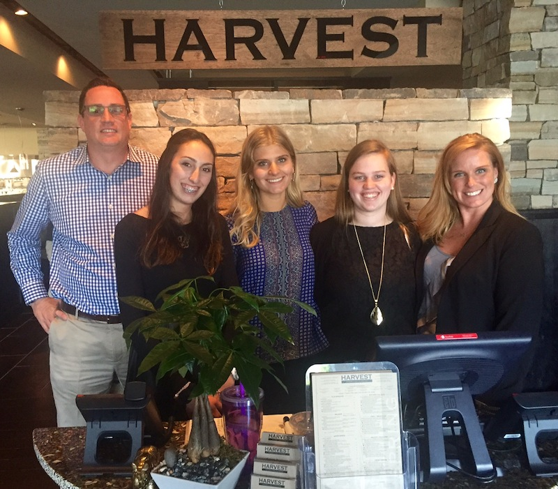 hostesses Leila Gordon, Harvest's Director of Operations ?, hostesses Cristina Shipe, Morgan Gleeson, and Sales and Marketing Manager