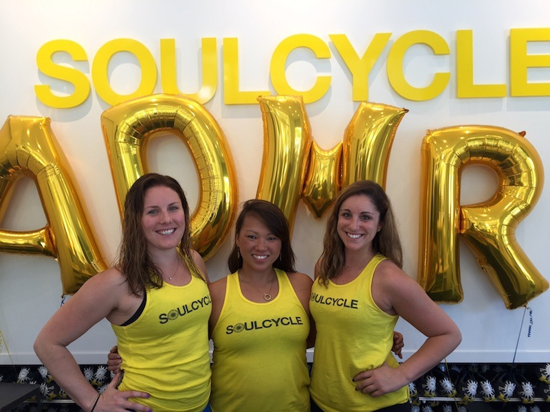 The SoulCycle Ardmore team: Assistant Studio Managers Lauren Cuddeback and Meredith Hertzel and Studio Manager Stephanie DeLisi.