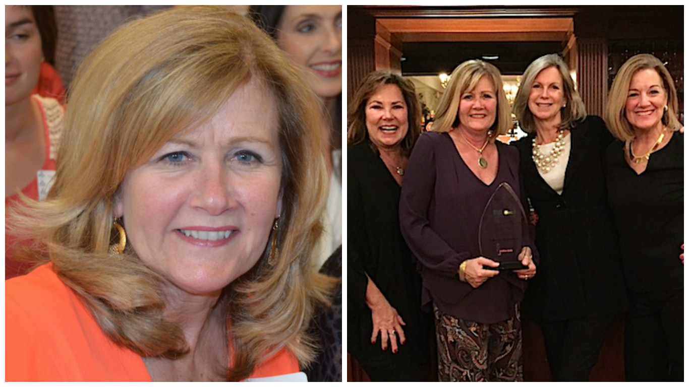 Susan and her loyal Polka Dots team on the night she received the Paoli 2015 Business Person of the Year award.