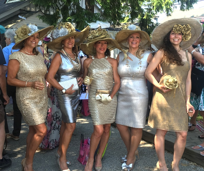 A shimmering group entry: Joanne Bogan, Annette Brennan, Tina Aberant, Sharon Bozentka and Kelly Bogan.