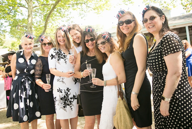 A jolly good time was had by the Daughters of the British Empire (Royal Jewels Chapter): Jackie Cunningham Hill, Maddie Hammond, Clare Cox, Kirsten Dineen, Barbara Ball, Janet Bernstein, Joceylyn Gilmour, Angela Schiavello. Daughters of invention, too: they mimicked netted hats they saw online for a fraction of the cost.