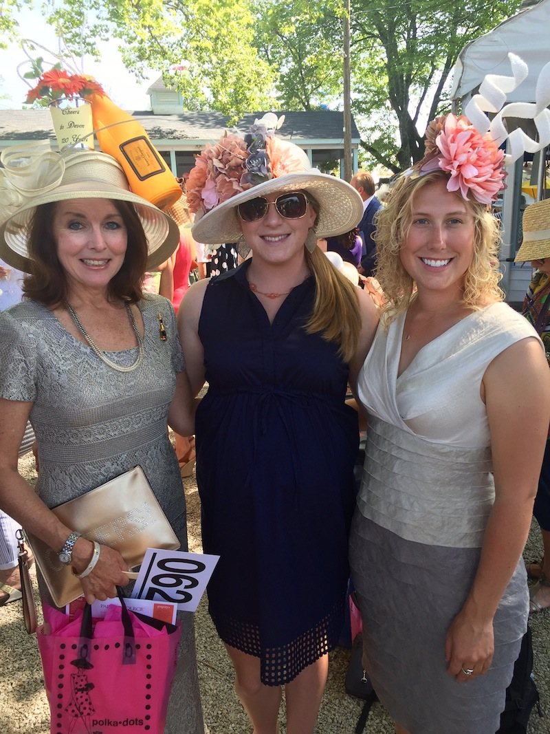 Patti Lynn Fitzgerald Her pals are Brooke Brewer and Nina Shaffer. A winner for her lemon-stick getup last year, she broke out the bubbly for 2016. (Veuve Clicquot, if you must know.