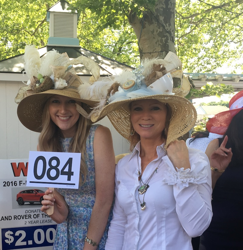 Maggie Bangham and Meg Veno of Life's Patina created hats inspired by the vintage finds available at their popular Malvern barn sales.