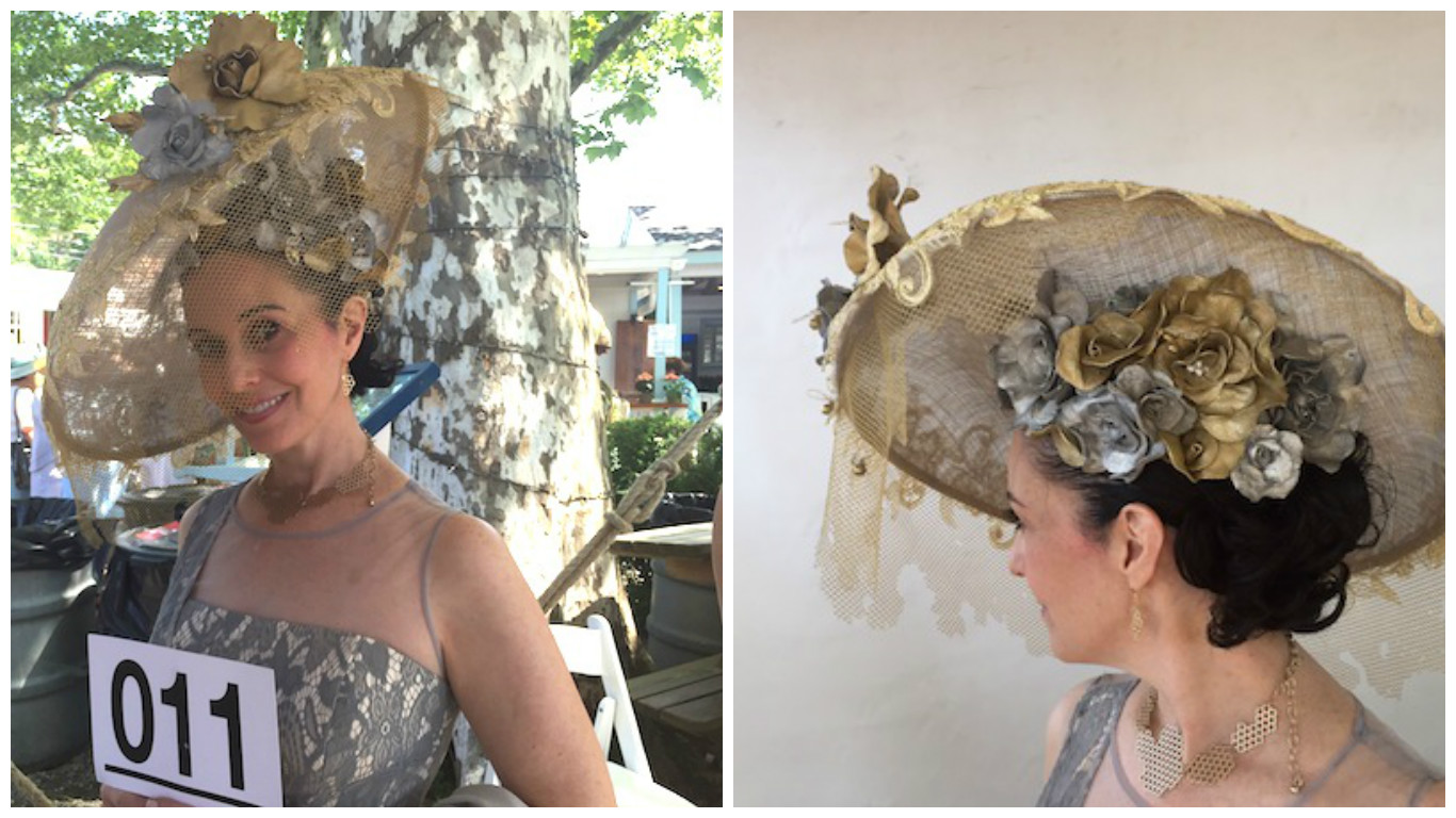 This sublimely handcrafted hat created and worn by Tiffany Arey didn't win any awards, but perhaps should have.