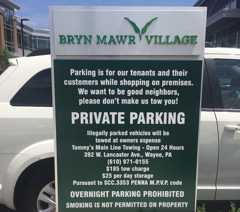 BrynMawrVillageparkingsign