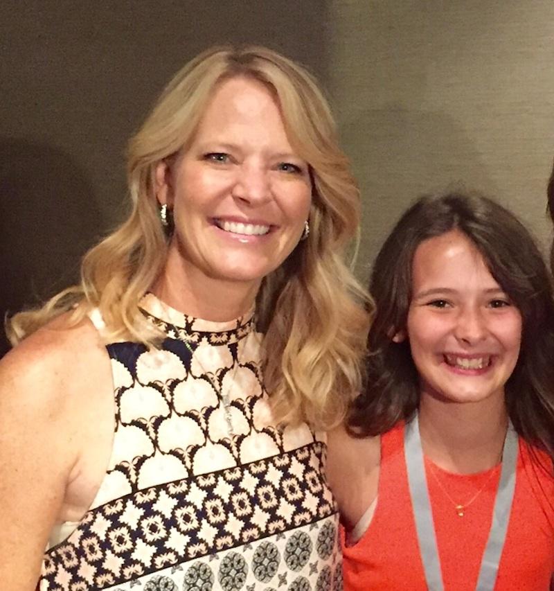 Comcast Sportsnet reporter Leslie Gudel of Berywn and daughter Kendall Klemm.