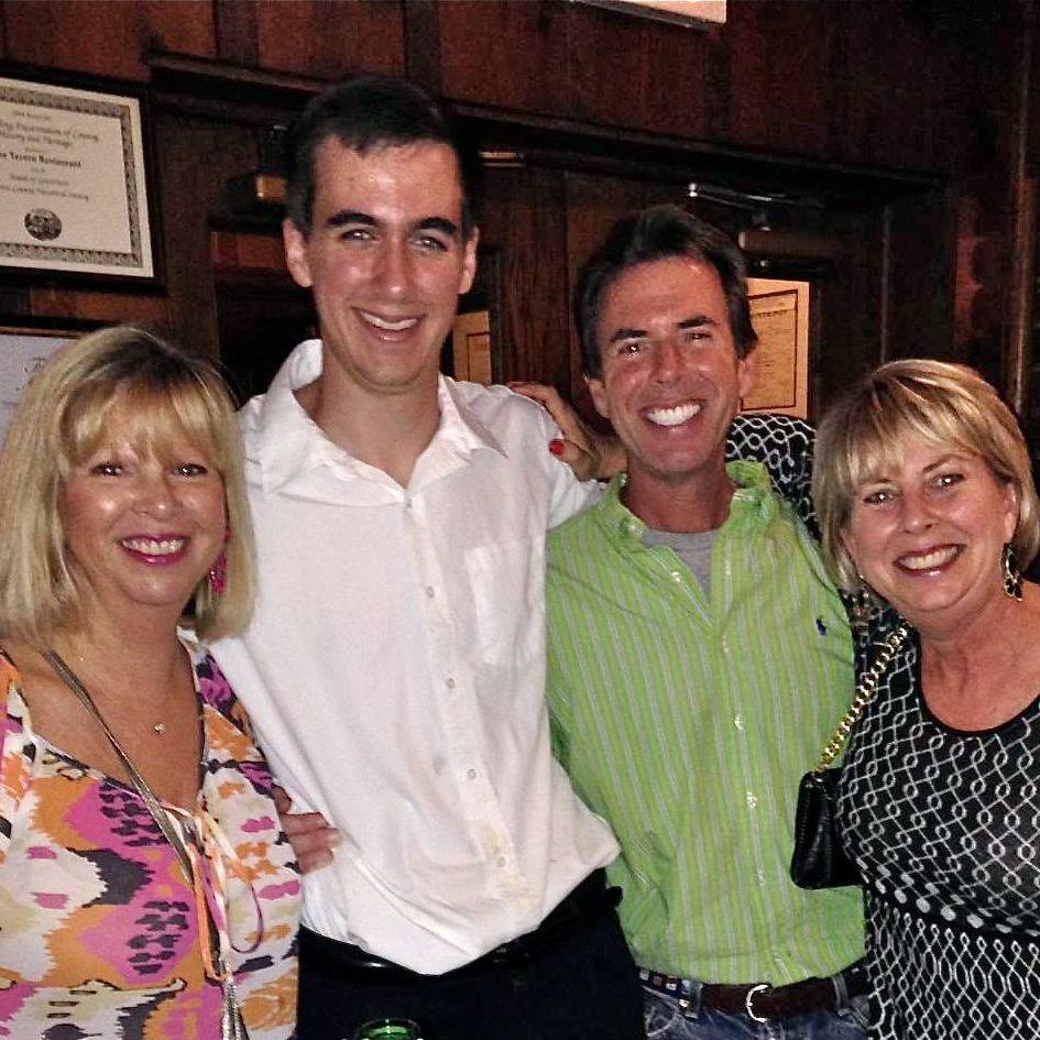The late Jeff Quinn with his aunt, Mona Kirby, his uncle, Devon vet Keith Kennedy, and his mom, Jill, at The Tavern in State College.