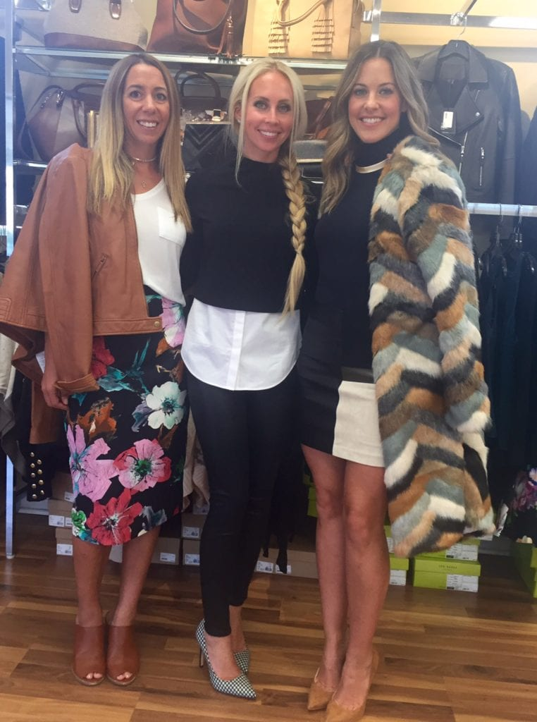 Fashion bloggers Lindsey Schuster, Amanda Cullen and Alison Maxim model their favorite Posh looks at the store's grand re-opening party.