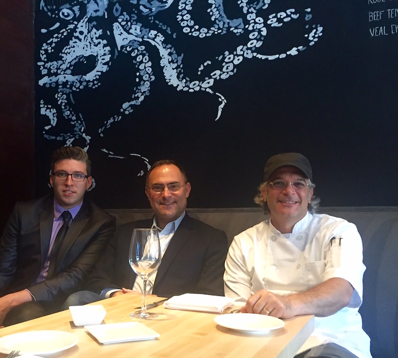 Savona GM Max Grange, co-owners Evan Lambert and chef/owner Andrew Masciangelo in the redesigned dining room.