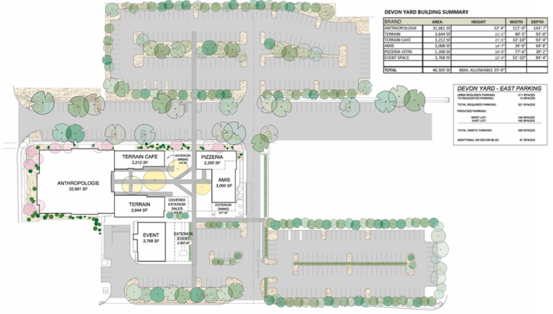 The new site plan shows LOTS of surface parking.