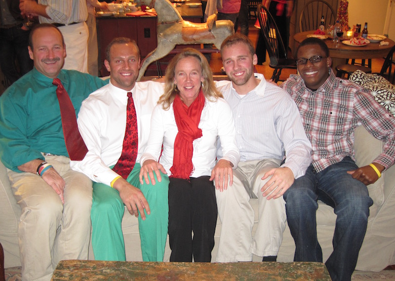 LeRoi and his second family, Sandy, Mark, Barb and Brad Herzlich, in their 2009 Christmas card.