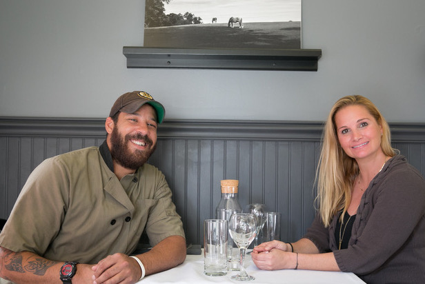At the Table owners Alex Hardy and Tara Buzan.