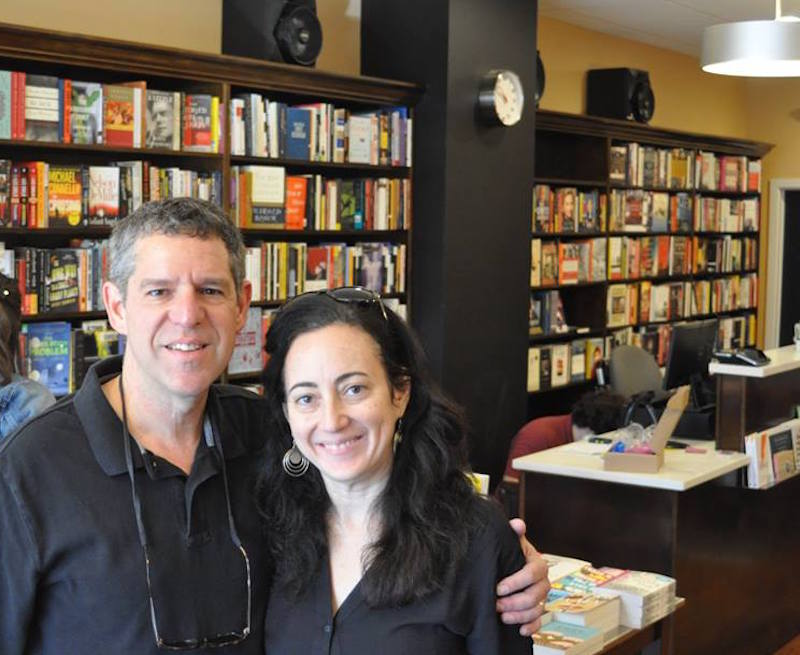 Bookshop proprietor Ellen Trachtenburg and husband Al Freedman.