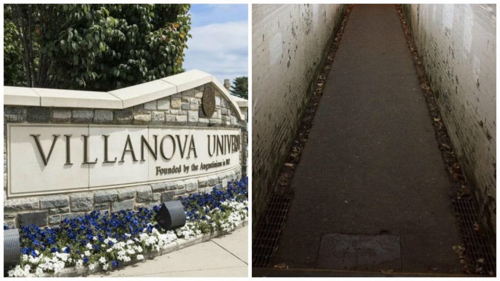 Site of an alleged racial attack in a train tunnel at Villanova.