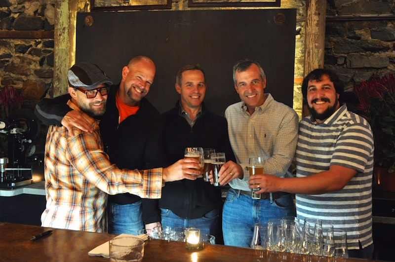 La Cabra partners toast their success: Vern Burling, Andy Iott, Andy Daly, Bob McKeaney and Dan Popernack.