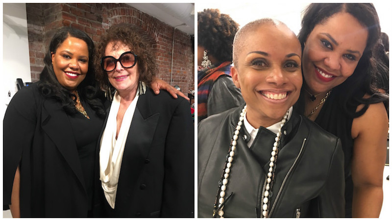 (Left) Honoree Taliba Foster and Center City boutique owner Joan Shepp at the awards party; (Right) Dr. Foster with Philly/Bryn Mawr lash & brow guru Deneen Marcel.